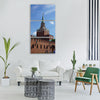 red moscow russia city square Vertical Canvas Wall Art