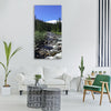 river forest landscape bank Vertical Canvas Wall Art