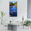 river autumn landscape nature water Vertical Canvas Wall Art