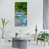 river forest water dupont Vertical Canvas Wall Art