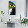 river ötztal tyrol forest nature Vertical Canvas Wall Art