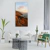 road coastal highway cliffs rocks Vertical Canvas Wall Art