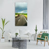 road the way journey track Vertical Canvas Wall Art