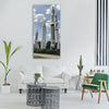 Rocket garden rockets space Vertical Canvas Wall Art