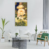 rose flower yellow nature garden Vertical Canvas Wall Art