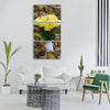 roses flowers bouquet autumn Vertical Canvas Wall Art