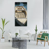 rowing boat boat water Vertical Canvas Wall Art