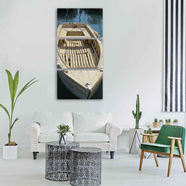 rowing boat boat water Vertical Canvas Wall Art - Clarnia