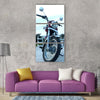A royel enfield bike bullet Vertical Canvas Wall Art