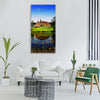 russia landscape scenic pond lake Vertical Canvas Wall Art