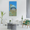 Samarkand registan square uzbekistan Vertical Canvas Wall Art