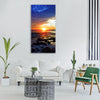 sea water beach ocean wave travel Vertical Canvas Wall Art