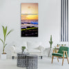 sea texture evening sunset nature Vertical Canvas Wall Art