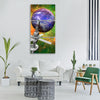space satellite planet science Vertical Canvas Wall Art