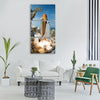 space shuttle launch endeavour Vertical Canvas Wall Art