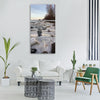 spring ice movement Vertical Canvas Wall Art