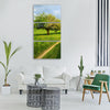 spring trees away field meadow Vertical Canvas Wall Art