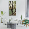 spring running water willow green Vertical Canvas Wall Art