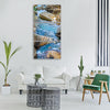 stream water wet nature clean Vertical Canvas Wall Art