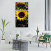 sun flower flower sun nature Vertical Canvas Wall Art