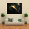 It's Time For Morning To Rock The Space And Milky Way Galaxy Multi Panel Canvas Wall Art