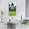 tower castle autumn Vertical Canvas Wall Art