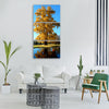 tree golden gold leaves yellow Vertical Canvas Wall Art