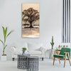 tree sunset winter impressions Vertical Canvas Wall Art