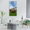 wanfried germany sky clouds flag Vertical Canvas Wall Art