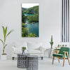 water nature river travel tree Vertical Canvas Wall Art