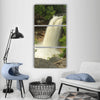 Waterfall minnehaha falls Vertical Canvas Wall Art