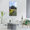wind turbine spring natural Vertical Canvas Wall Art