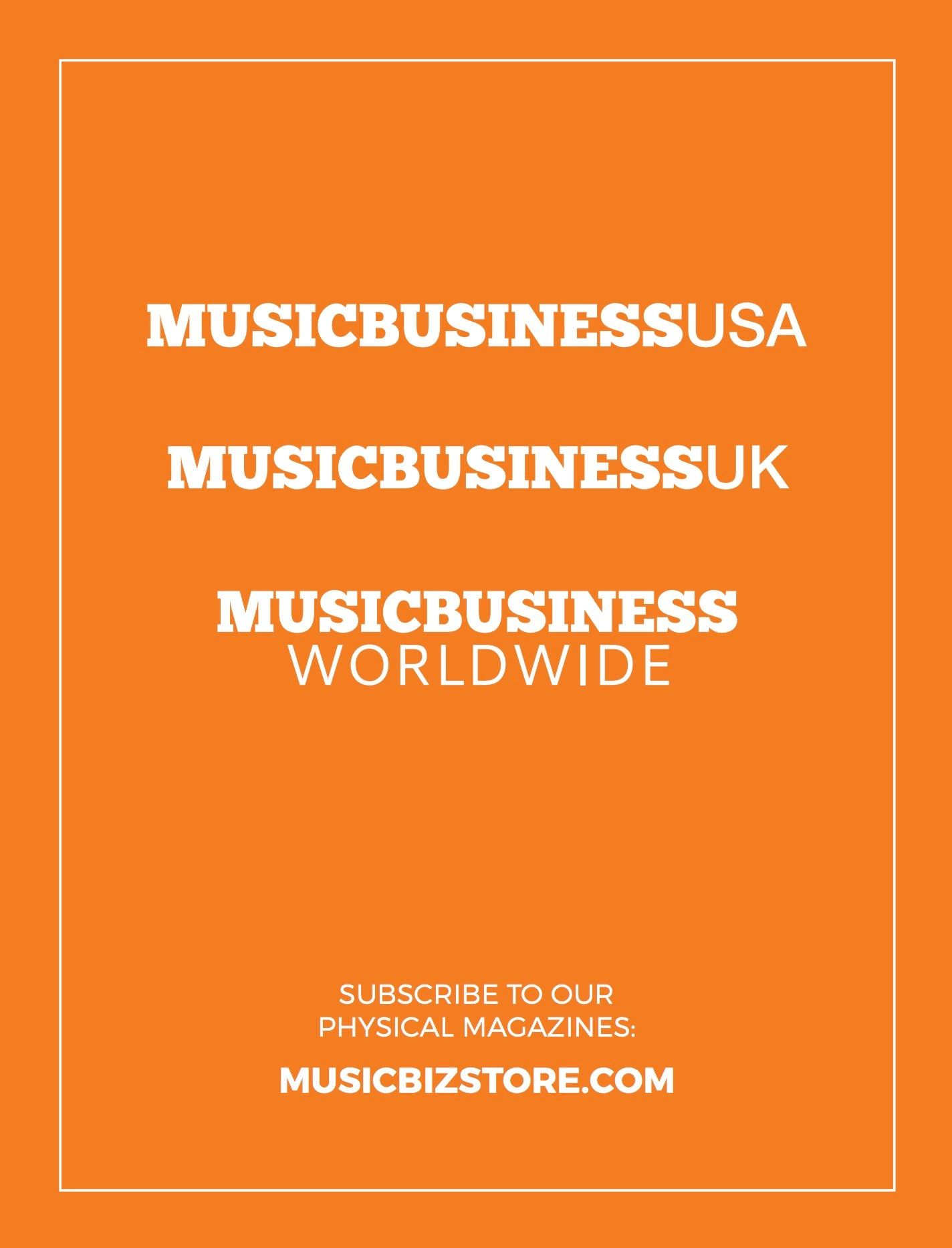 Annual MBW Physical Subscription - Music Business UK, Music Business USA & MBW Yearbook