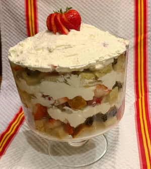 Berry Trifle with Strawberry Balsamic