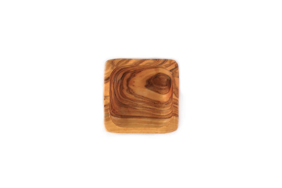 Olive Wood Square Dip Bowl 3.5