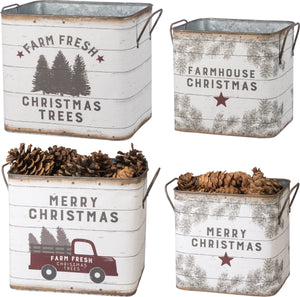 Farm Christmas Tin