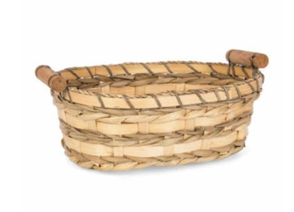 Oval Maize/Bamboo Tub with Short Handles