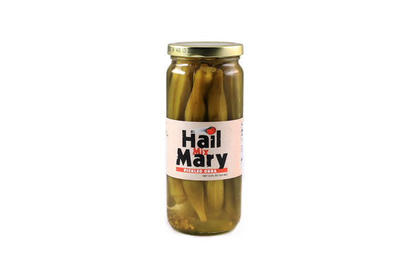Hail Mary Pickled Okra