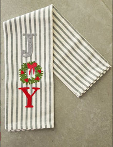 Busatti Holiday Embroidered Kitchen Towels