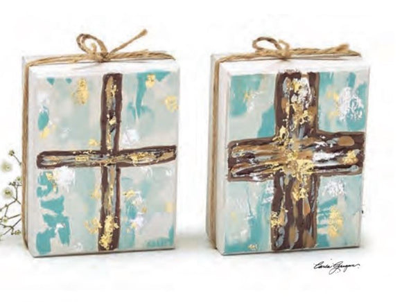 Hand-Painted Cross Shelf Sitters