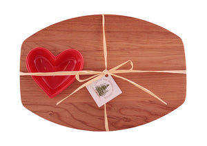 Entertaining Board with Heart Shaped Bowl