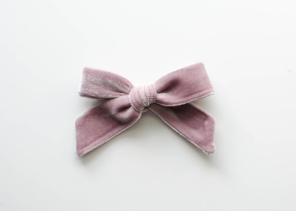 Blush Velvet | Ella Bow
