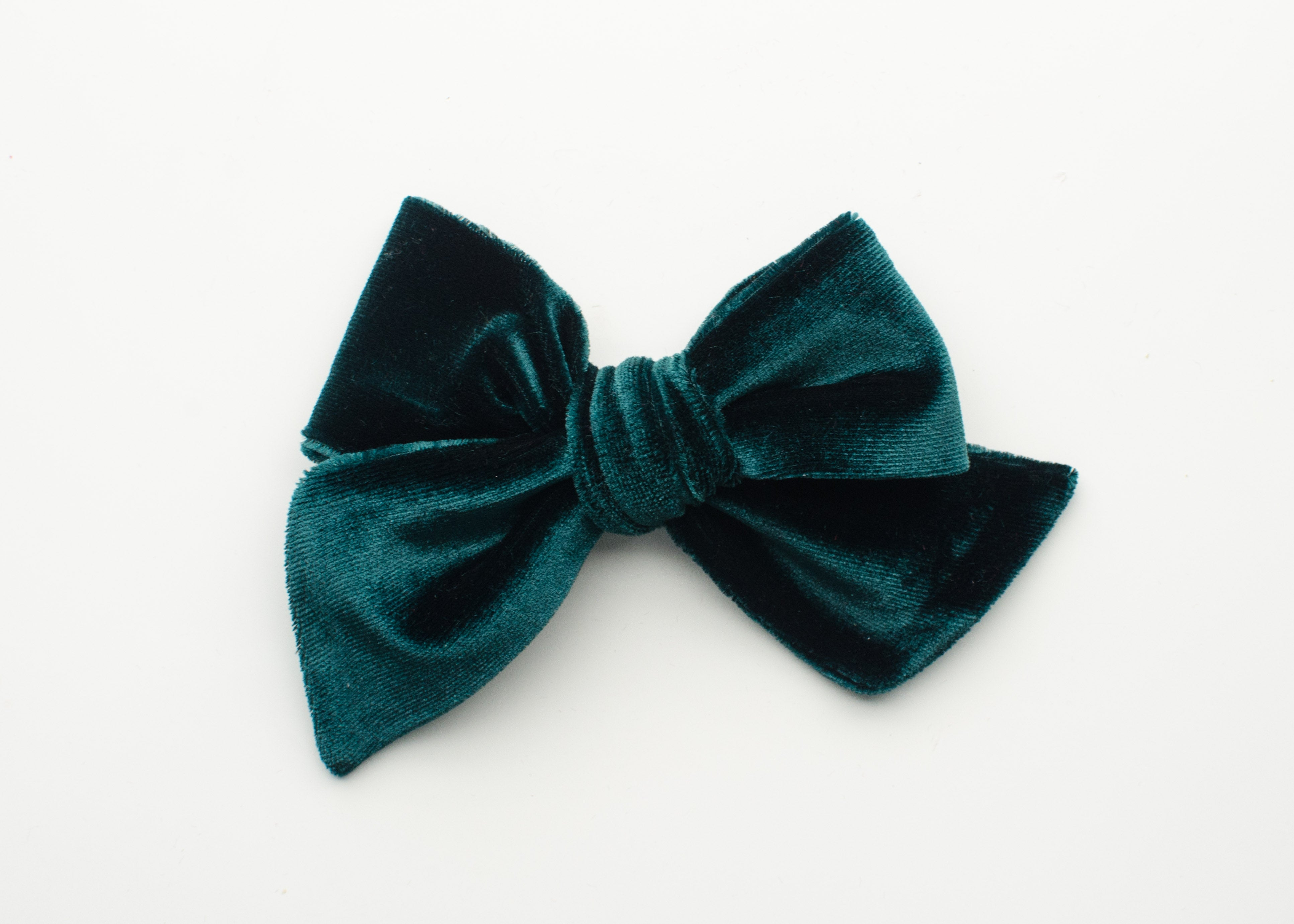 Holiday Collection Emery Fabric Hair Bow Hunter Velvet
