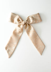 Crushed Gold in Blush Draped Bow