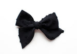 Black Silk Dot | Emery Bow