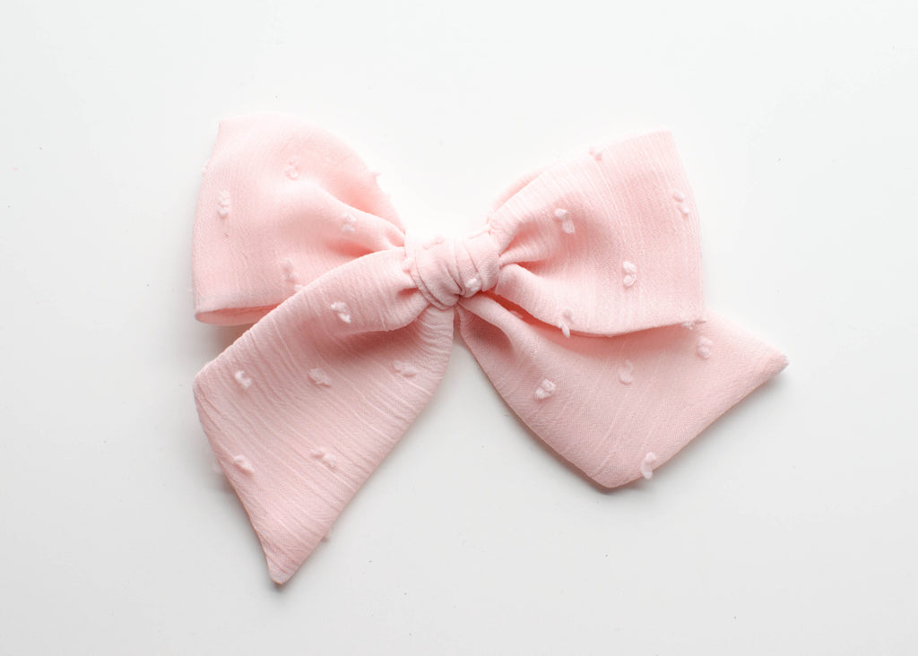 Sweet Pea Silk Dot | Emery Bow