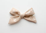 Crushed Gold in Blush | Evie Bow