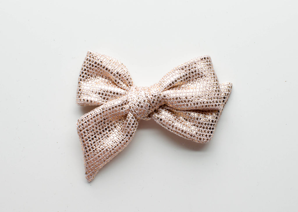 Metallic Rose Gold | Emma Bow