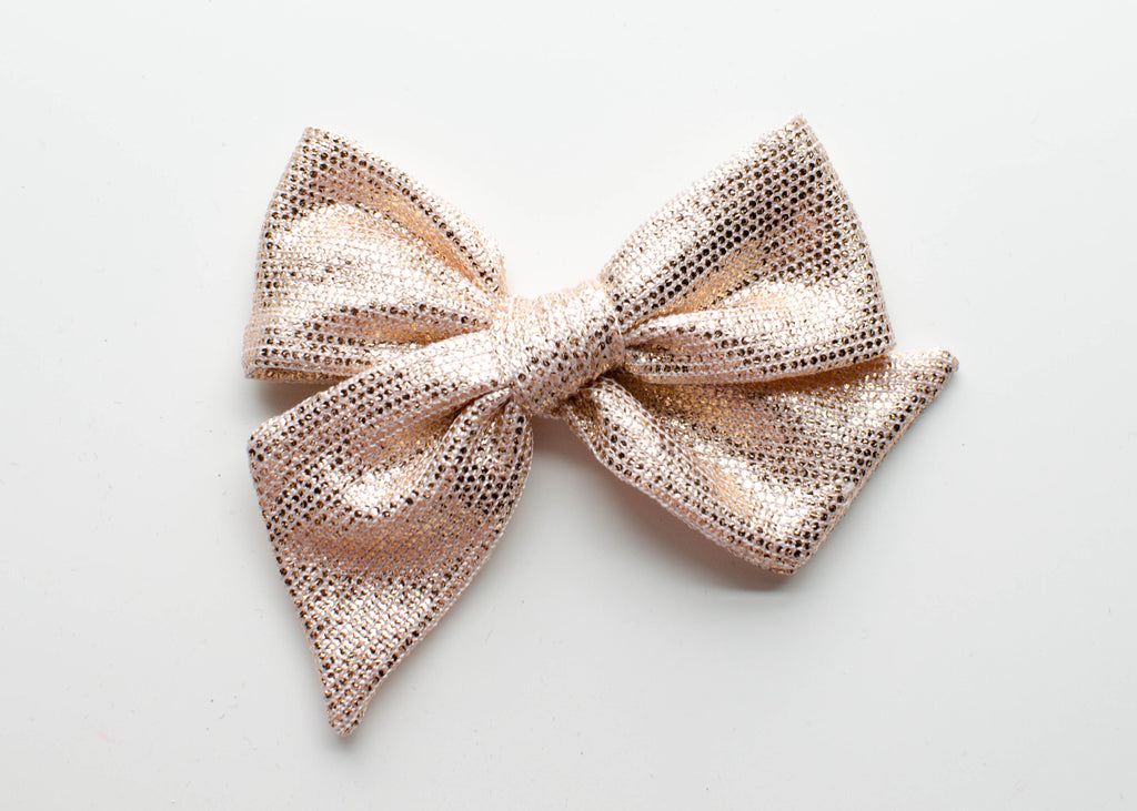 Metallic Rose Gold | Emery Bow