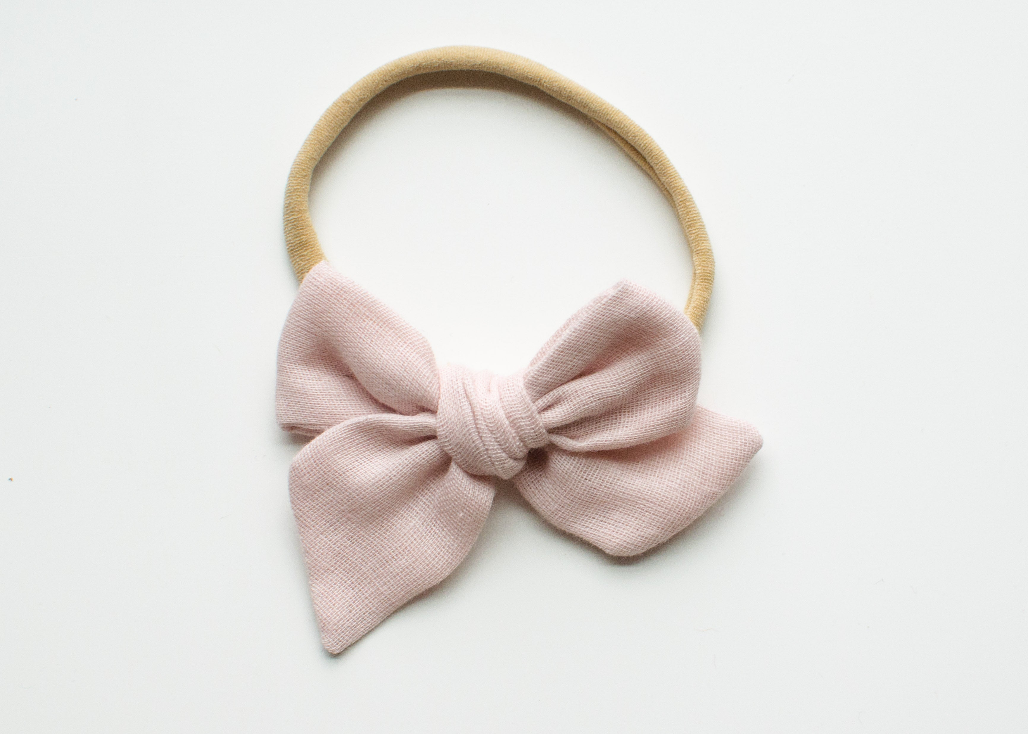 Saloo Gauze Elsie Hair Bow in Misty Rose